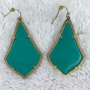 Kendra Scott Alex turquoise with gold earrings